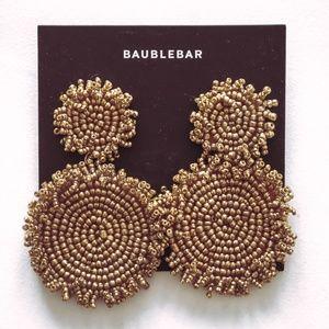 NWT BaubleBar Gold Beaded Earrings